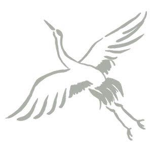 飛翔鶴 (11002-004)年賀状イラストスタンプ・中こどものかおStamp for the New Year's card