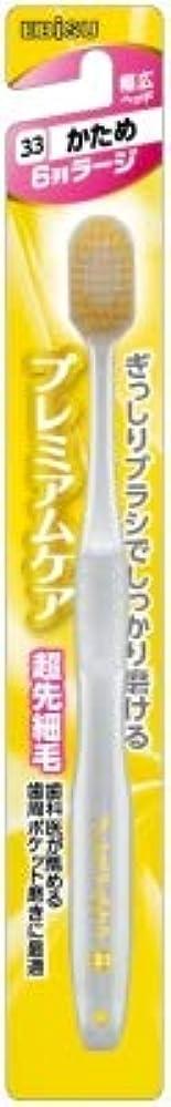落ち着いたセクション救い【まとめ買い】プレミアムケアハブラシ6列ラージ かため ×6個