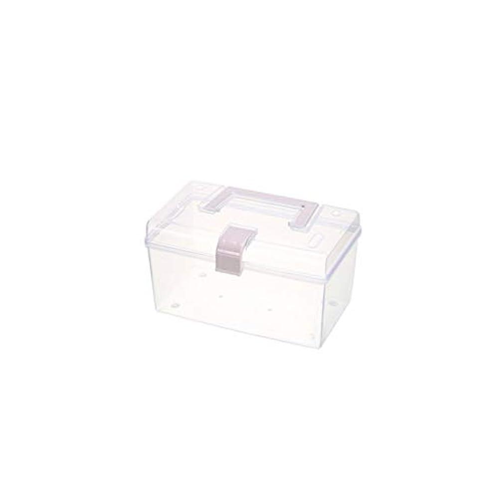 法医学便宜大学院ポータブル薬箱透明密封薬収納ボックス家庭用医療ボックス多機能救急箱2サイズオプション AMINIY (Color : A, Size : 19.5×11×11.5cm)