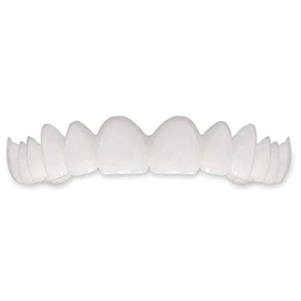サドルワイプ前任者歯インスタントパーフェクトスマイルフレックス歯ホワイトニングスマイルフォールスティースカバー(ホワイト)