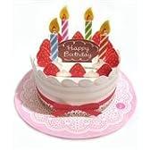 光る&メロディ・誕生日カード バースディケーキ 8-1