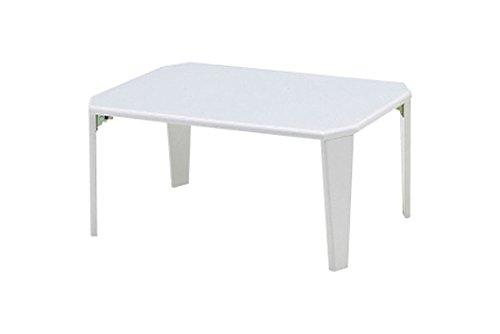 折りたたみテーブル 鏡面仕上げ ホワイト 20-151 WH