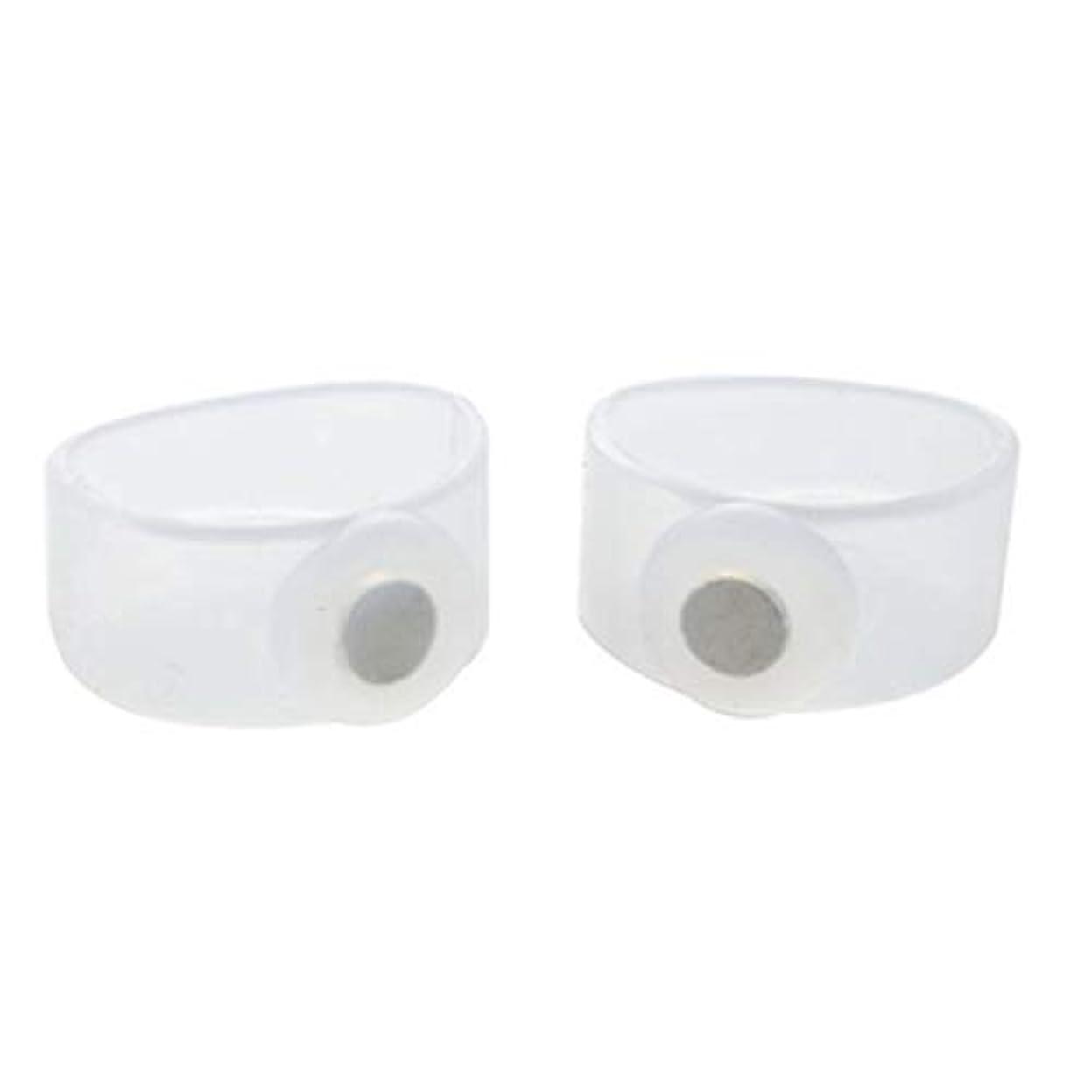 贅沢な半円後ろに2ピース痩身シリコン磁気フットマッサージャーマッサージリラックスつま先リング用減量ヘルスケアツール美容製品 - 透明