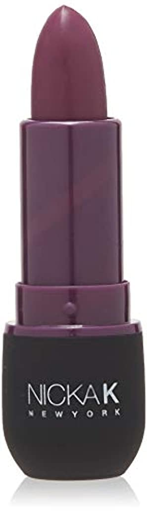 近所の従順記念日NICKA K Vivid Matte Lipstick - NMS17 Dark Scarlet (並行輸入品)