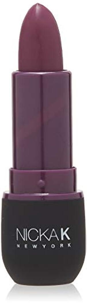 美徳機構物理学者NICKA K Vivid Matte Lipstick - NMS17 Dark Scarlet (並行輸入品)