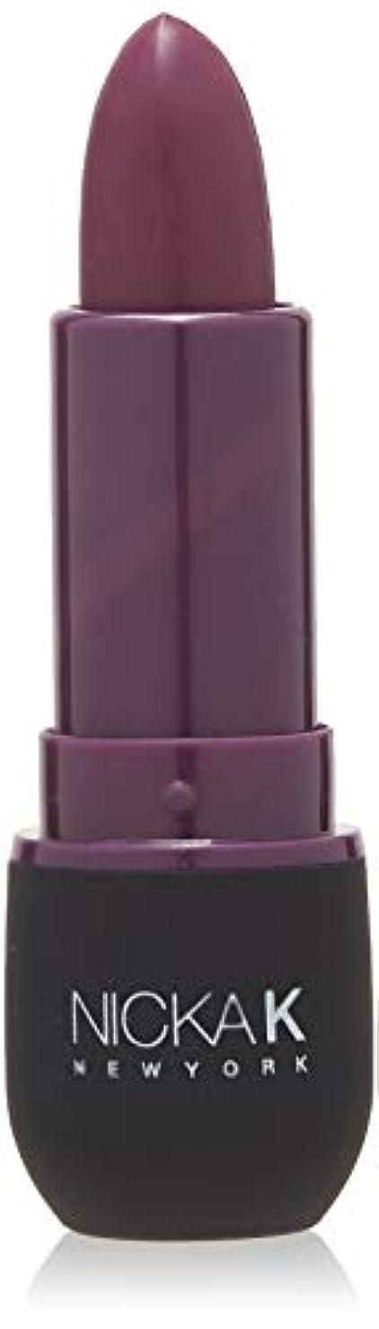 現代の移動クラックNICKA K Vivid Matte Lipstick - NMS17 Dark Scarlet (並行輸入品)