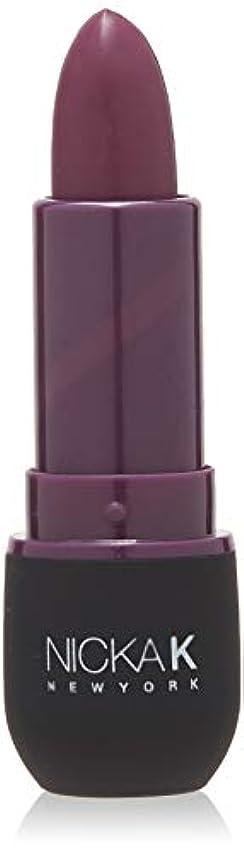 衝動取り付け和らげるNICKA K Vivid Matte Lipstick - NMS17 Dark Scarlet (並行輸入品)