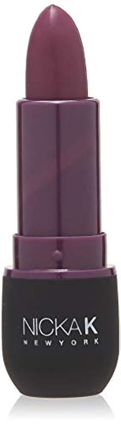ショッピングセンターデンマーク語謎NICKA K Vivid Matte Lipstick - NMS17 Dark Scarlet (並行輸入品)