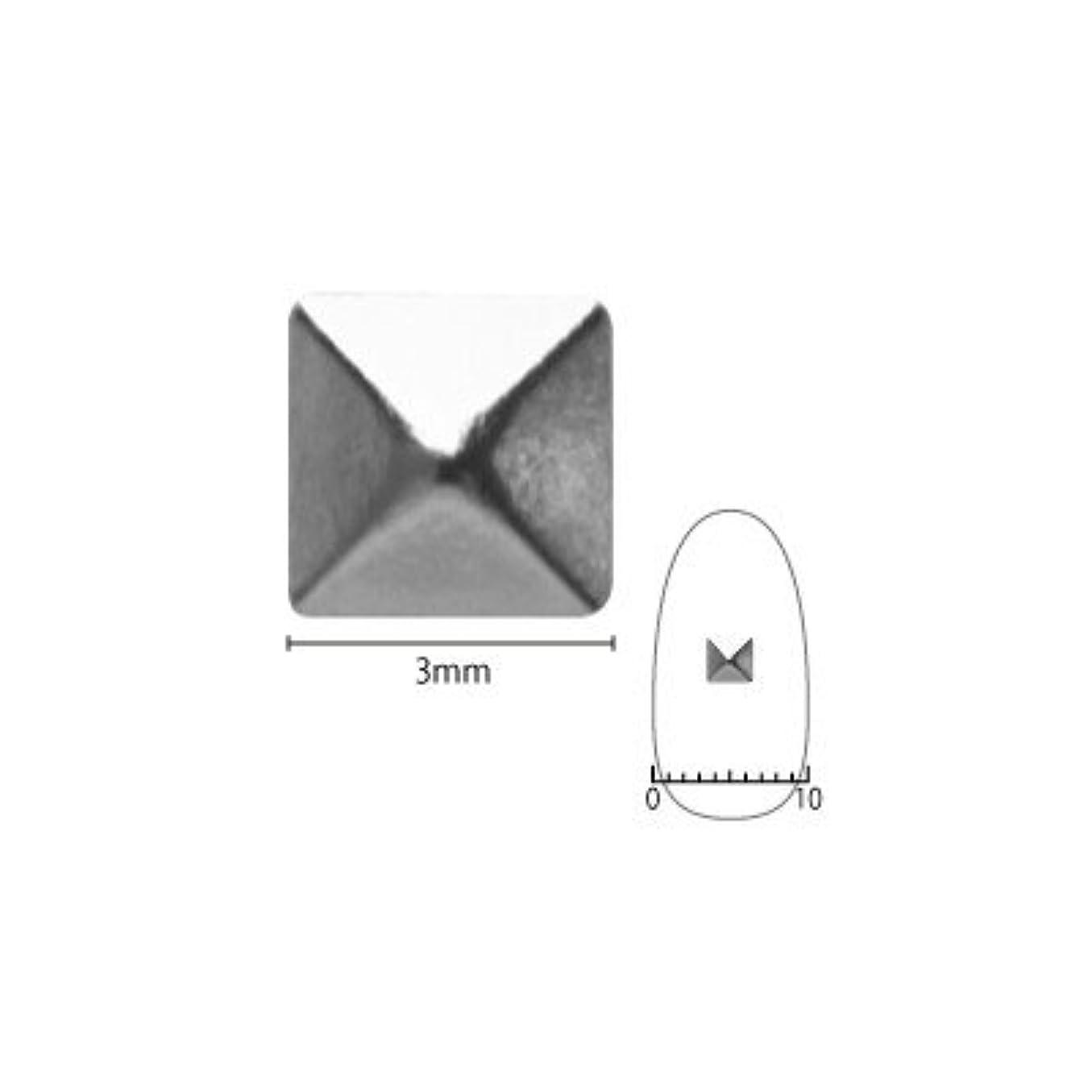 確立気質現代ネイルスタッズ ピアドラ pieadra スタッズ ピラミッド 3mm 50P シルバー