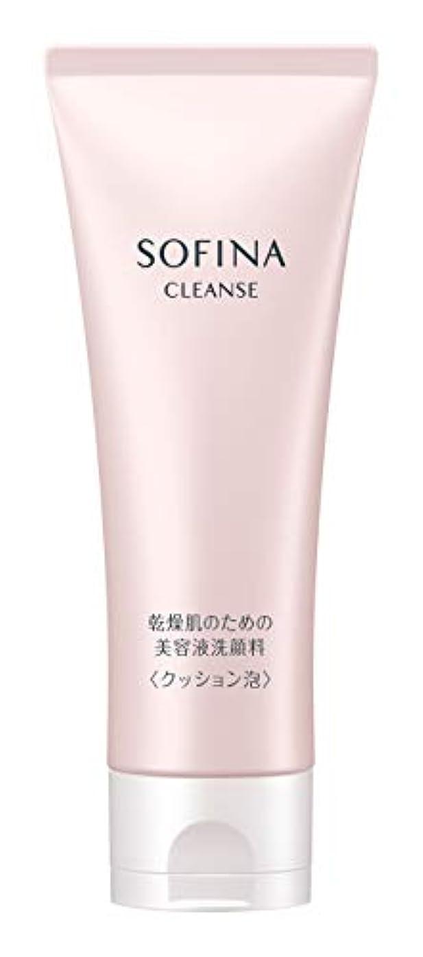 脇にフロント湿度ソフィーナ 乾燥肌のための美容液洗顔料 クッション泡 120g