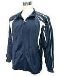 (アシックス) asics メンズ トレーニングジャケット EZT106-50 O 濃紺/薄灰/黄緑