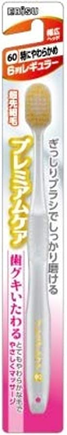 二十胚芽怖がって死ぬ【まとめ買い】プレミアムケア歯グキいたわる6列レギュラー ×6個