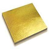 【SONIC BOOST】金箔 フェイク ゴールド 100枚 セット (80mm×80mm) きんぱく 建築 美術 工作 飾り お試し 豪華 GOLD 光沢 合金製