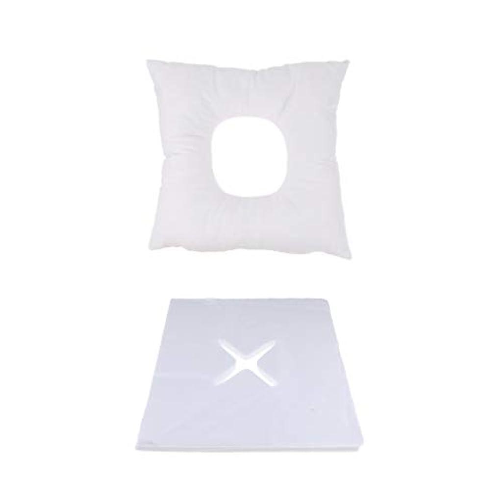 ボイコット豚肉プロペラP Prettyia マッサージ用クッション マッサージ枕 顔枕 フェイスマット 200個使い捨てピローカバー付 快適