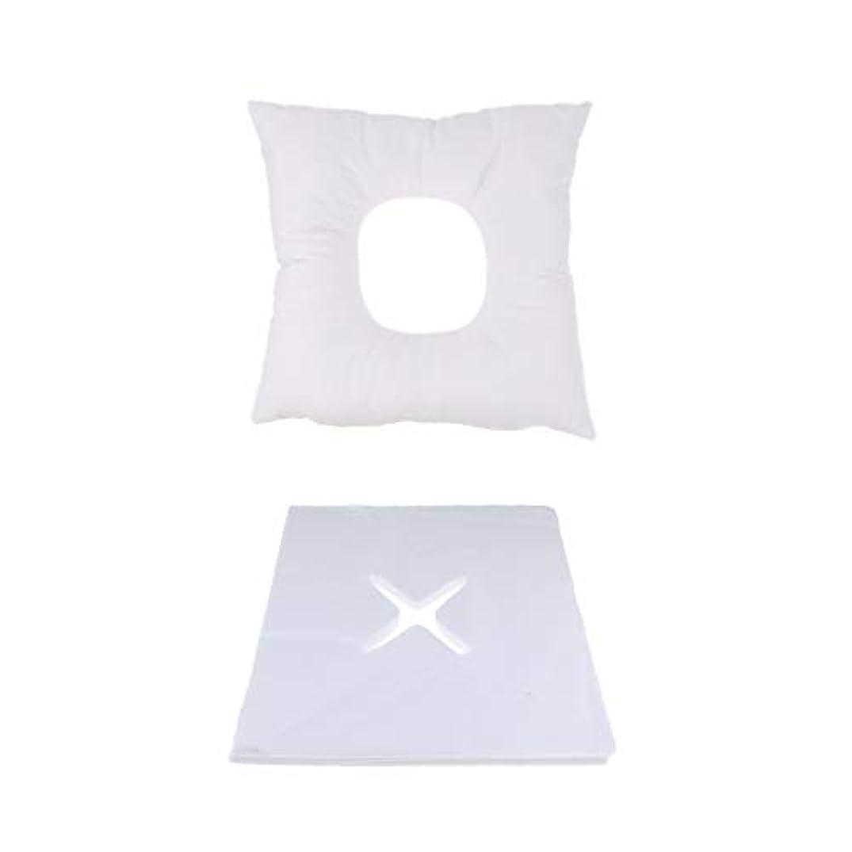 矢じり絶壁ピッチャーP Prettyia マッサージ用クッション マッサージ枕 顔枕 フェイスマット 200個使い捨てピローカバー付 快適