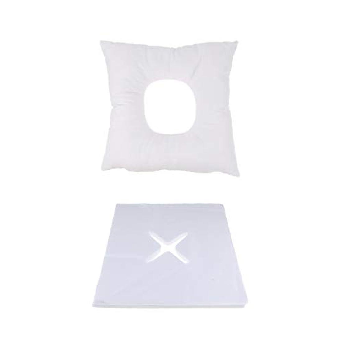 延期する透明に識別するP Prettyia マッサージ用クッション マッサージ枕 顔枕 フェイスマット 200個使い捨てピローカバー付 快適