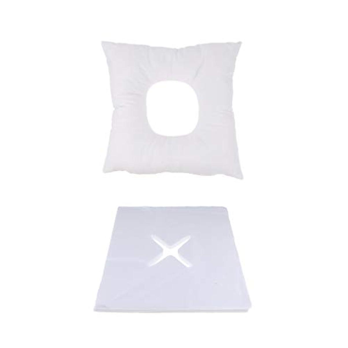 ええ現像事マッサージ用クッション フェイスマット マッサージ枕 顔枕 200個使い捨てカバー付 快適