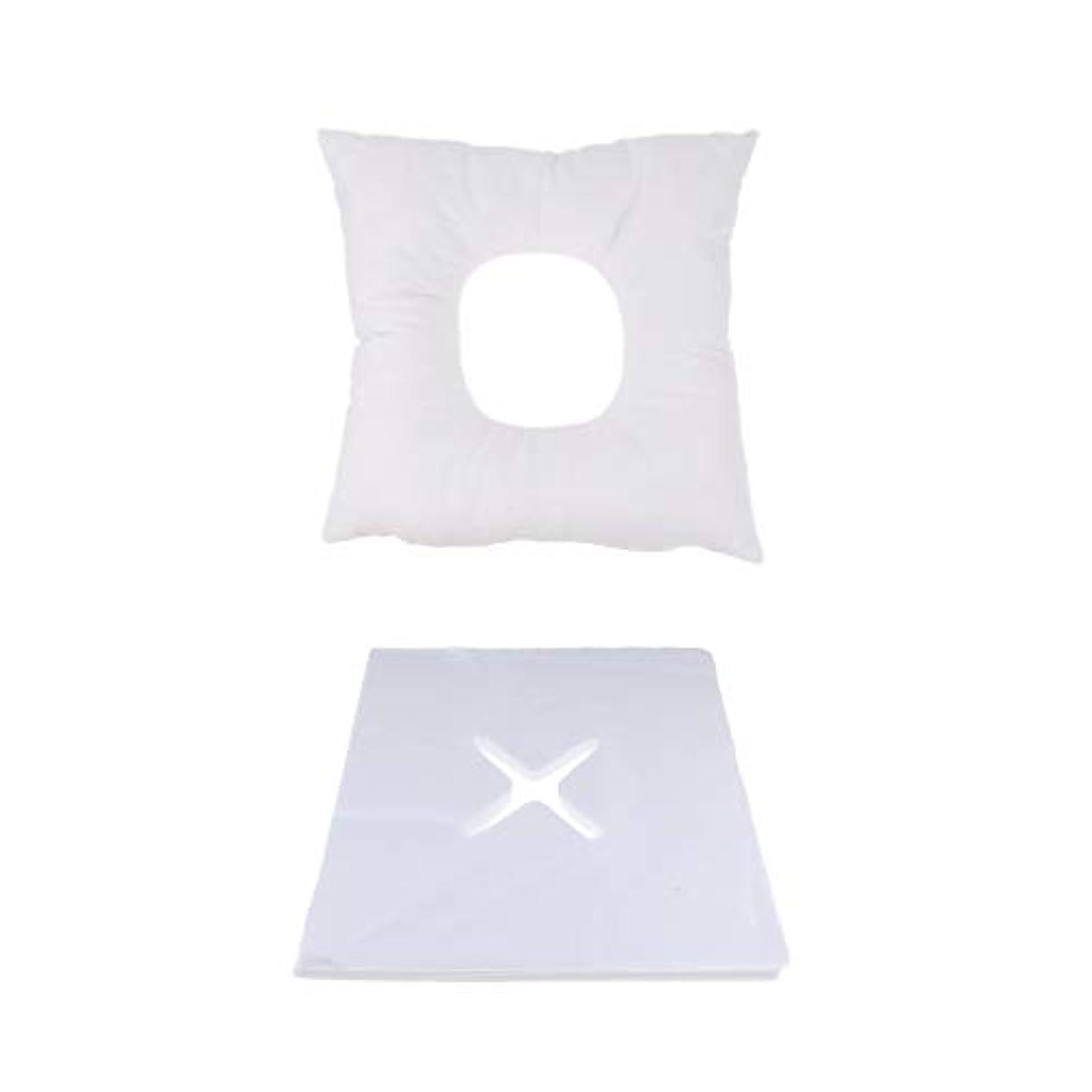 連邦非難どうやらFLAMEER マッサージ用クッション フェイスマット マッサージ枕 顔枕 200個使い捨てカバー付 快適