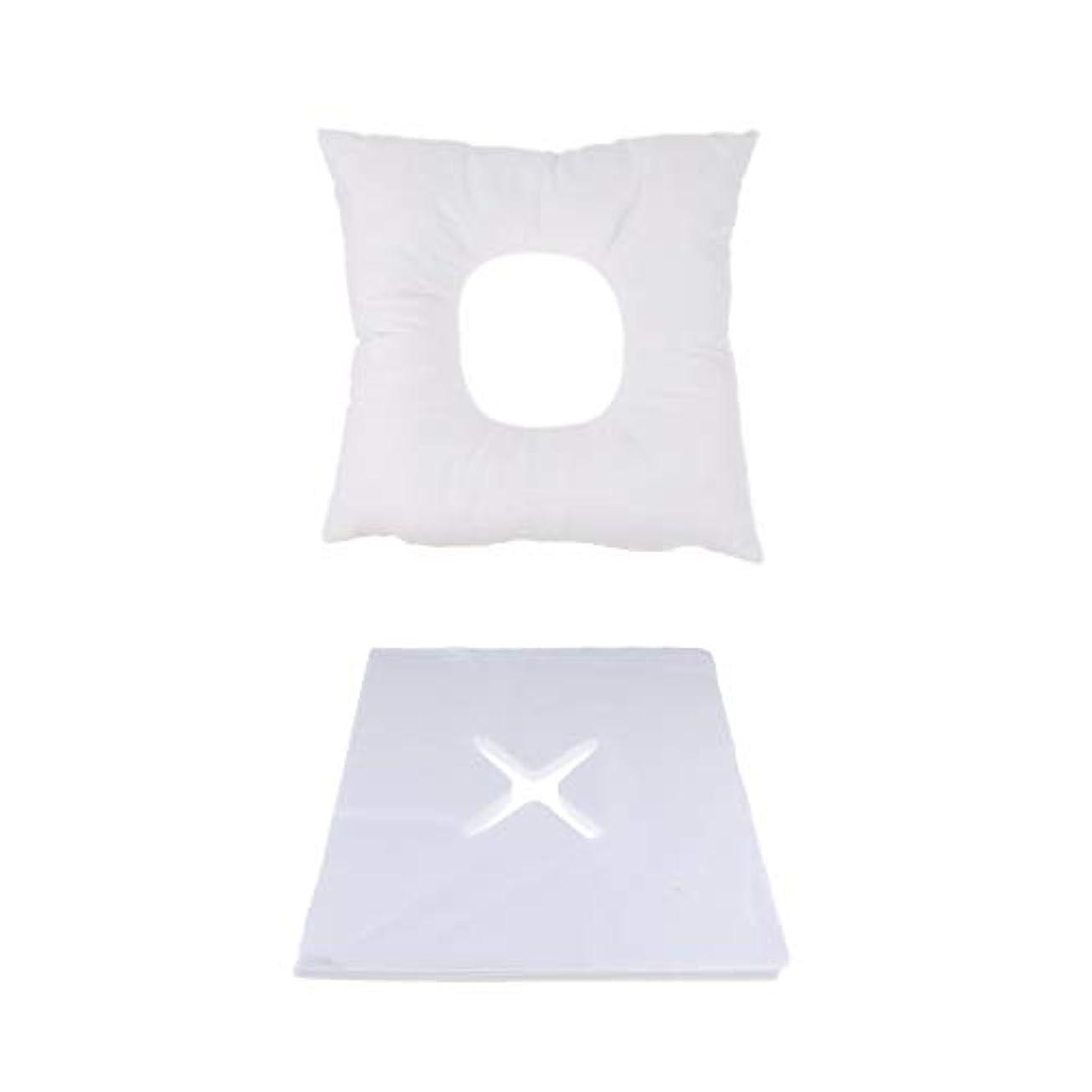 FLAMEER マッサージ用クッション フェイスマット マッサージ枕 顔枕 200個使い捨てカバー付 快適
