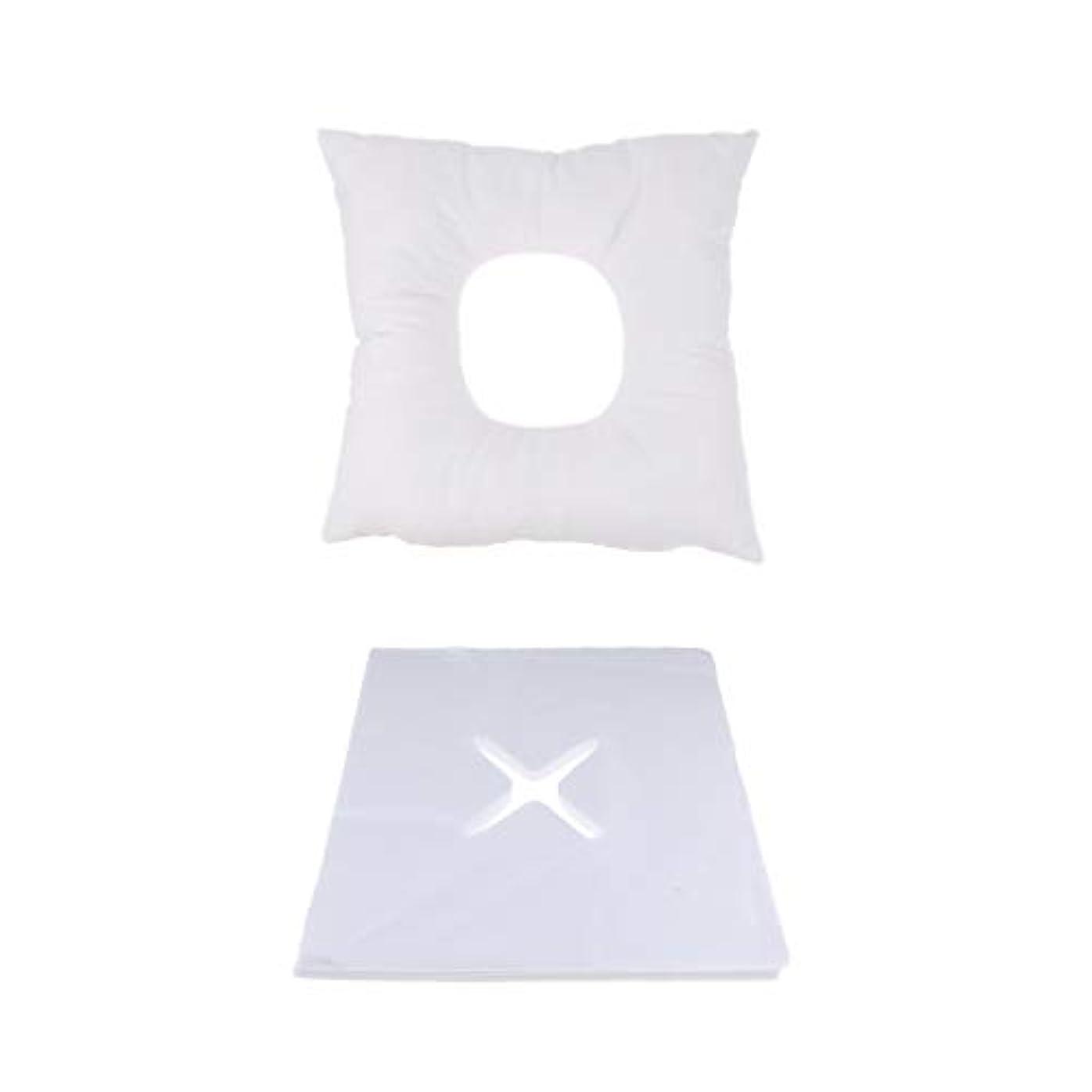 チャップ静けさ揮発性P Prettyia マッサージ用クッション マッサージ枕 顔枕 フェイスマット 200個使い捨てピローカバー付 快適