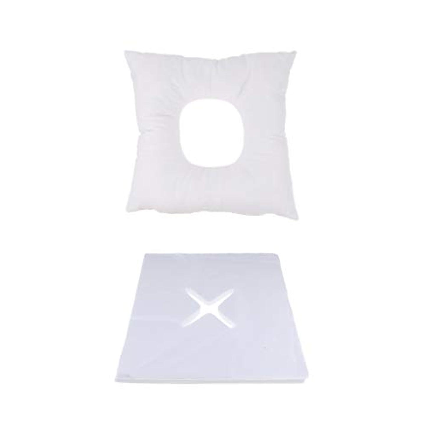 膜妨げる公爵夫人FLAMEER マッサージ用クッション フェイスマット マッサージ枕 顔枕 200個使い捨てカバー付 快適