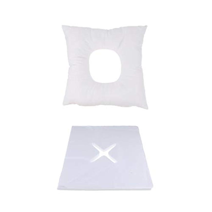 引き潮代わりに急性FLAMEER マッサージ用クッション フェイスマット マッサージ枕 顔枕 200個使い捨てカバー付 快適