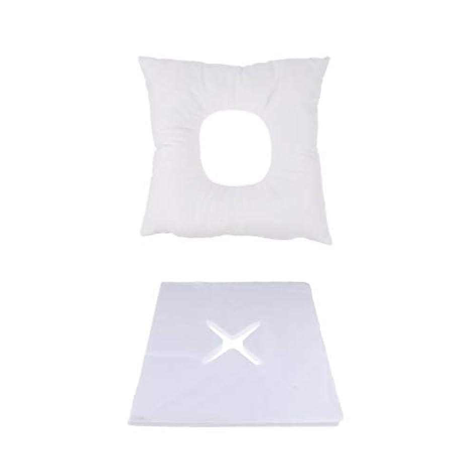 残る補正利益P Prettyia マッサージ用クッション マッサージ枕 顔枕 フェイスマット 200個使い捨てピローカバー付 快適