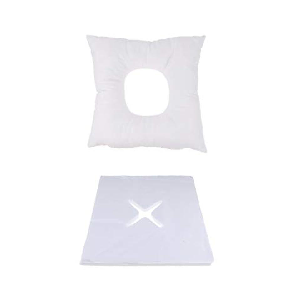 修理可能値する経済FLAMEER マッサージ用クッション フェイスマット マッサージ枕 顔枕 200個使い捨てカバー付 快適