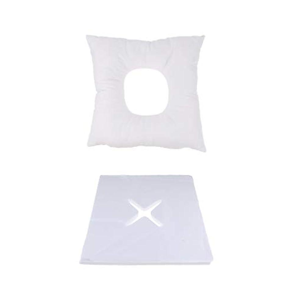 シーボード貴重なトロピカルFLAMEER マッサージ用クッション フェイスマット マッサージ枕 顔枕 200個使い捨てカバー付 快適