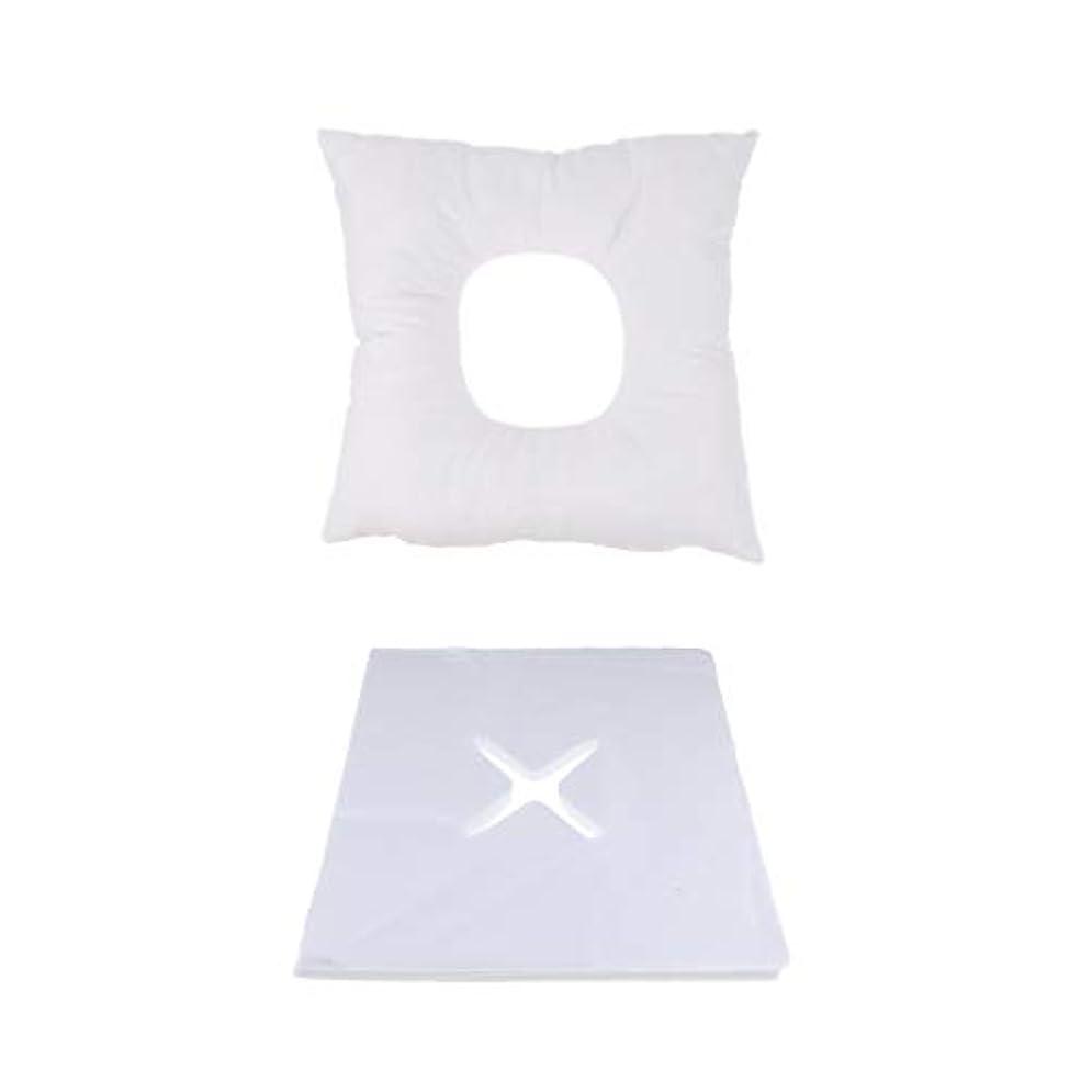 P Prettyia マッサージ用クッション マッサージ枕 顔枕 フェイスマット 200個使い捨てピローカバー付 快適