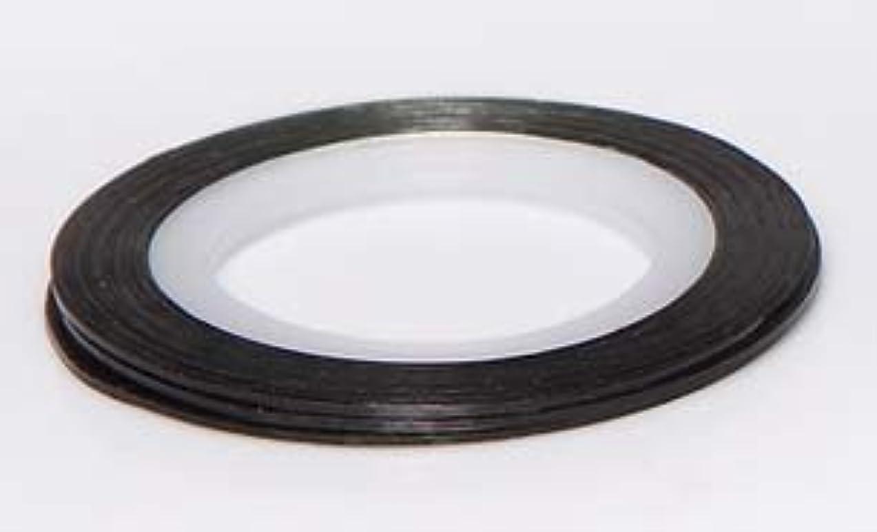 飲み込むアクセシブル石油【ラインストーン77】 ラインテープ 1mm 各色.選択可 (黒)