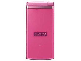 京セラ au K006 ディープピンク 携帯電話 白ロム