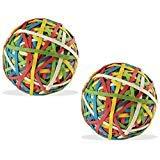 カラーゴムバンドボール( 135gm x 2)–Pack of 2