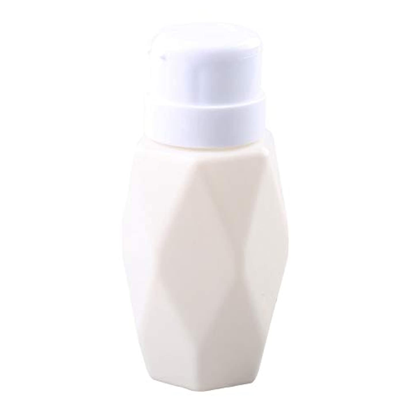 知的船外削るSODAOA屋 200ml リットル空ポンプ ボトル ネイルクリーナーボトル ポンプディスペンサー200ml ジェルクリーナー ジェルリムーバ 可愛い ファッション 人気(ホワイト)