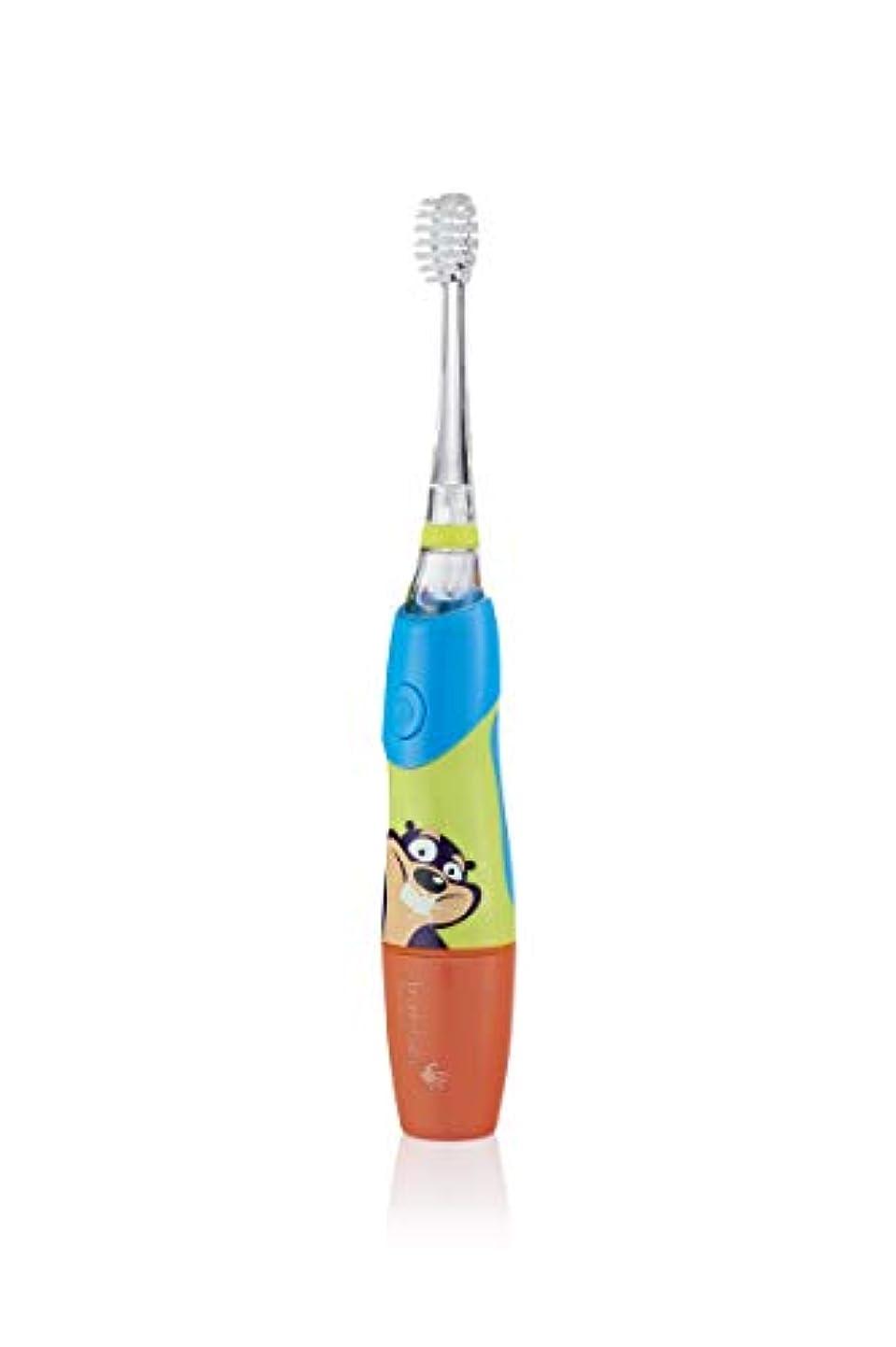 イベント愚か伝記Brush Baby Kidz Sonic Electric Toothbrush- BLUE - 3 x Small brush heads with soft vibrating bristles - ブラシベビーキッズソニックエレクトリック...