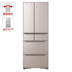 日立 475L 6ドア冷蔵庫(クリスタルシャンパン)HITACHI R-XG4800H-XN