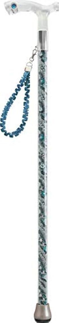 ナプキン熱帯の白鳥素敵屋Alook ステッキ グラスローズ 83cm ビクトリアン ブルー