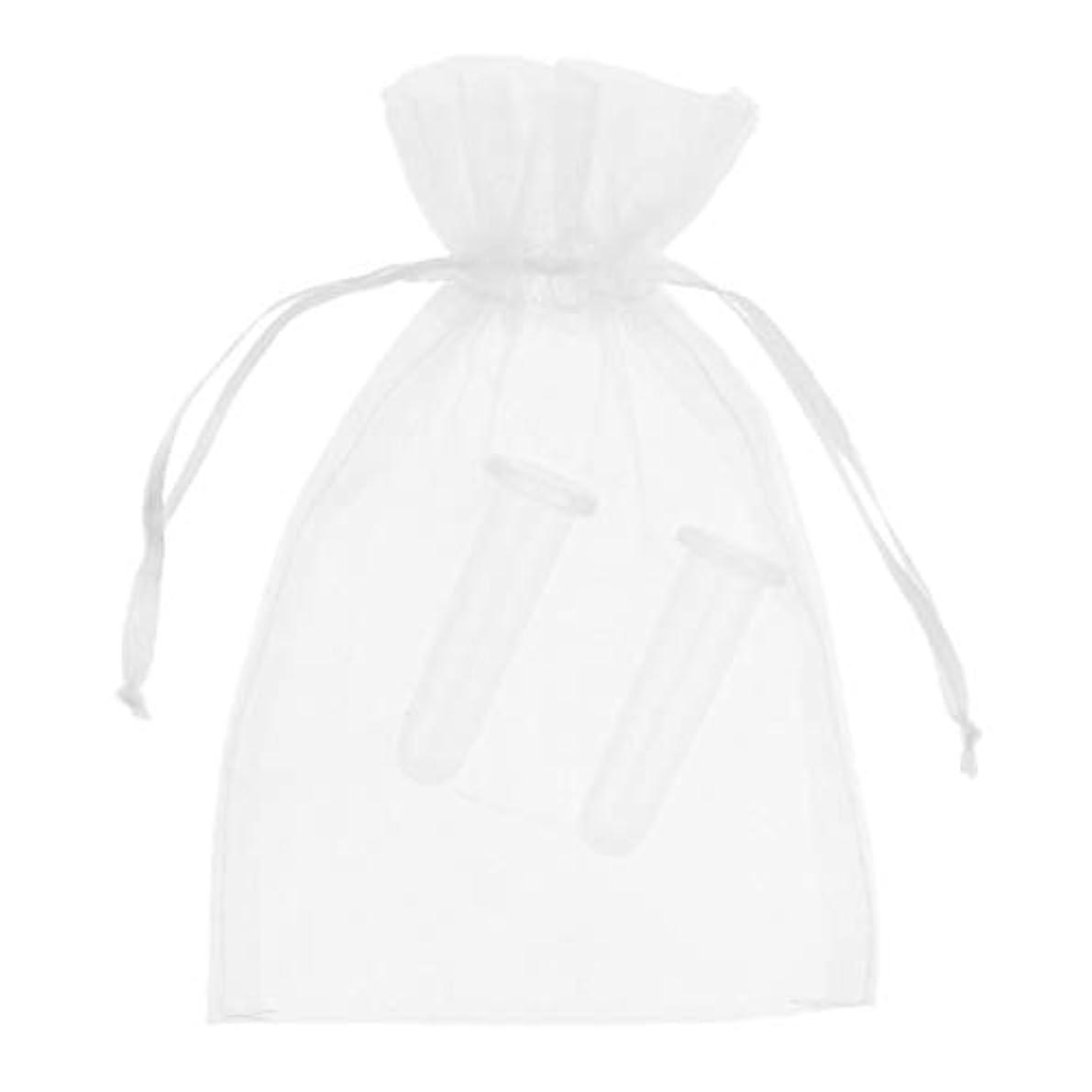 障害者思春期離す2個 シリコーン製 真空 顔用マッサージ カッピング 吸い玉カップ カッピング 収納ポーチ付き全2色 - ホワイト