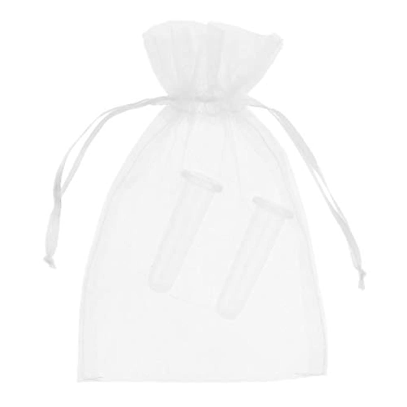 先入観プラス手順シリコーン製 真空 顔用マッサージ カッピング 吸い玉カップ カッピング 収納ポーチ付き 2個 全2色 - ホワイト