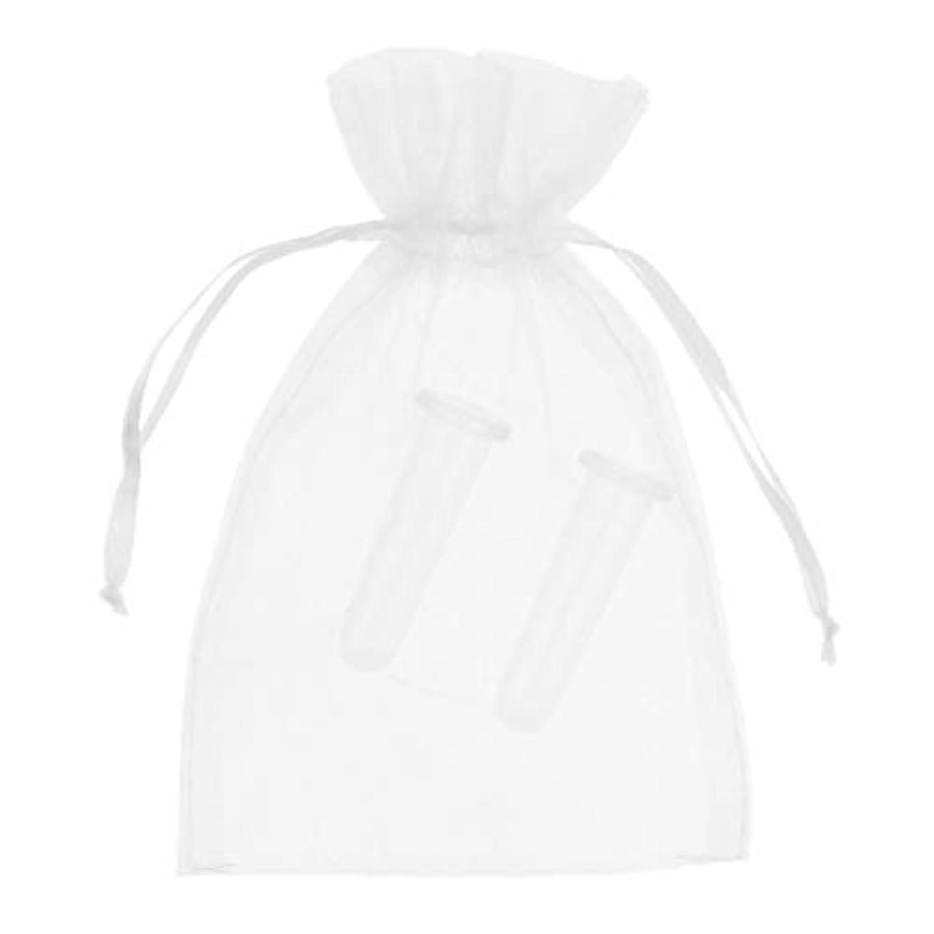 ふさわしい数学エーカーB Blesiya シリコーン製 真空 顔用マッサージ カッピング 吸い玉カップ カッピング 収納ポーチ付き 2個 全2色 - ホワイト
