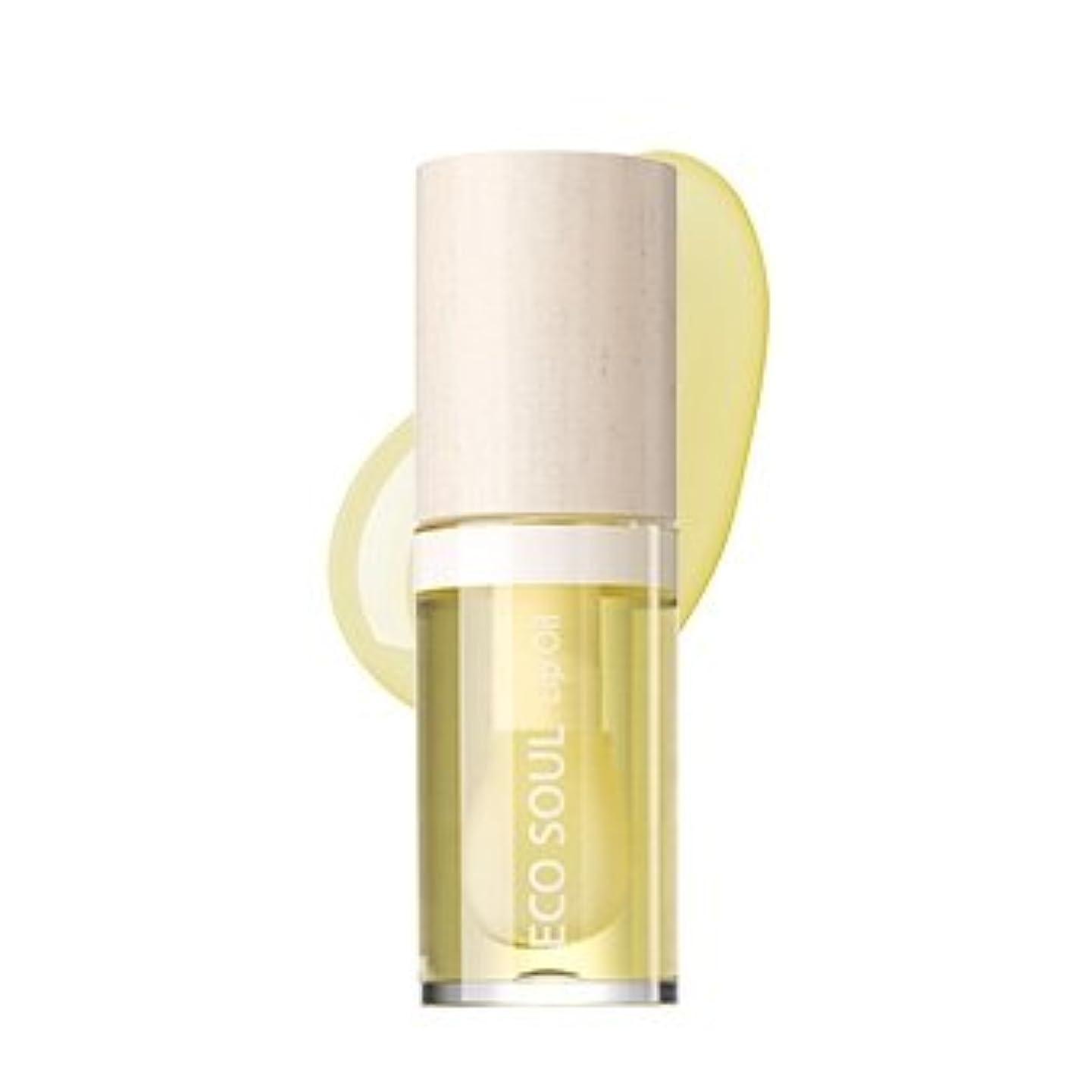やさしく知らせるキャッチthe SAEM Eco Soul Lip Oil 6ml/ザセム エコ ソウル リップ オイル 6ml (#01 Honey) [並行輸入品]