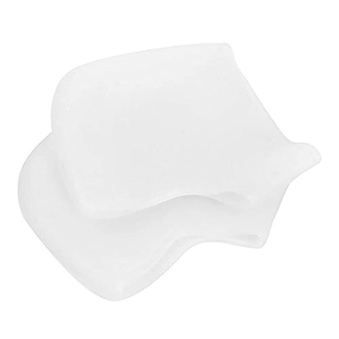 意見隔離昼食足底筋膜炎の痛みを軽減するヒールプロテクター、乾燥したひび割れた足用のジェル&ファブリックヒールスリーブ、快適なヒールクッションカップ