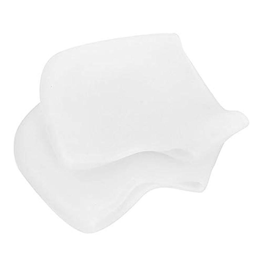 アクティブ良さ現実的足底筋膜炎の痛みを軽減するヒールプロテクター、乾燥したひび割れた足用のジェル&ファブリックヒールスリーブ、快適なヒールクッションカップ