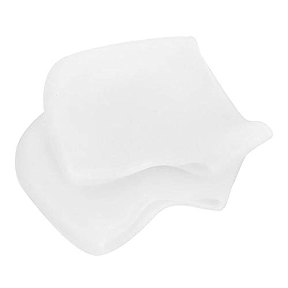 管理場所リール足底筋膜炎の痛みを軽減するヒールプロテクター、乾燥したひび割れた足用のジェル&ファブリックヒールスリーブ、快適なヒールクッションカップ