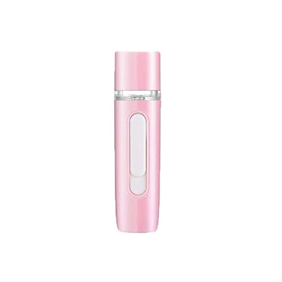 矛盾する麻酔薬ネックレスZXF 新しいハンドヘルドポータブル水和機器美容機器ABS材料コールドスプレー蒸し面マルチプレックス充電宝物加湿器ピンクセクションホワイト 滑らかである (色 : Pink)
