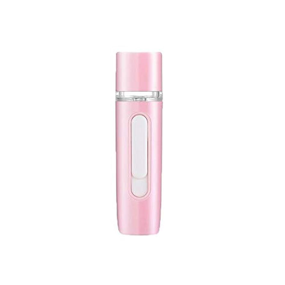伝える故障中ノートZXF 新しいハンドヘルドポータブル水和機器美容機器ABS材料コールドスプレー蒸し面マルチプレックス充電宝物加湿器ピンクセクションホワイト 滑らかである (色 : Pink)