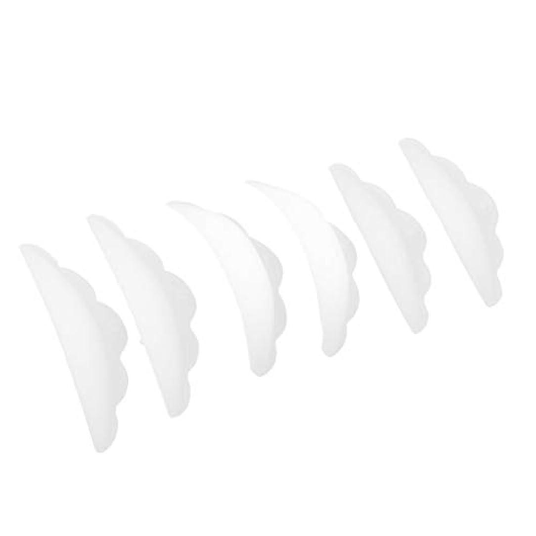ペア類推ワームCUTICATE まつげ エクステンション パーマパッド まつげ 3Dシリコーン 柔らかく 快適 3ペア入り