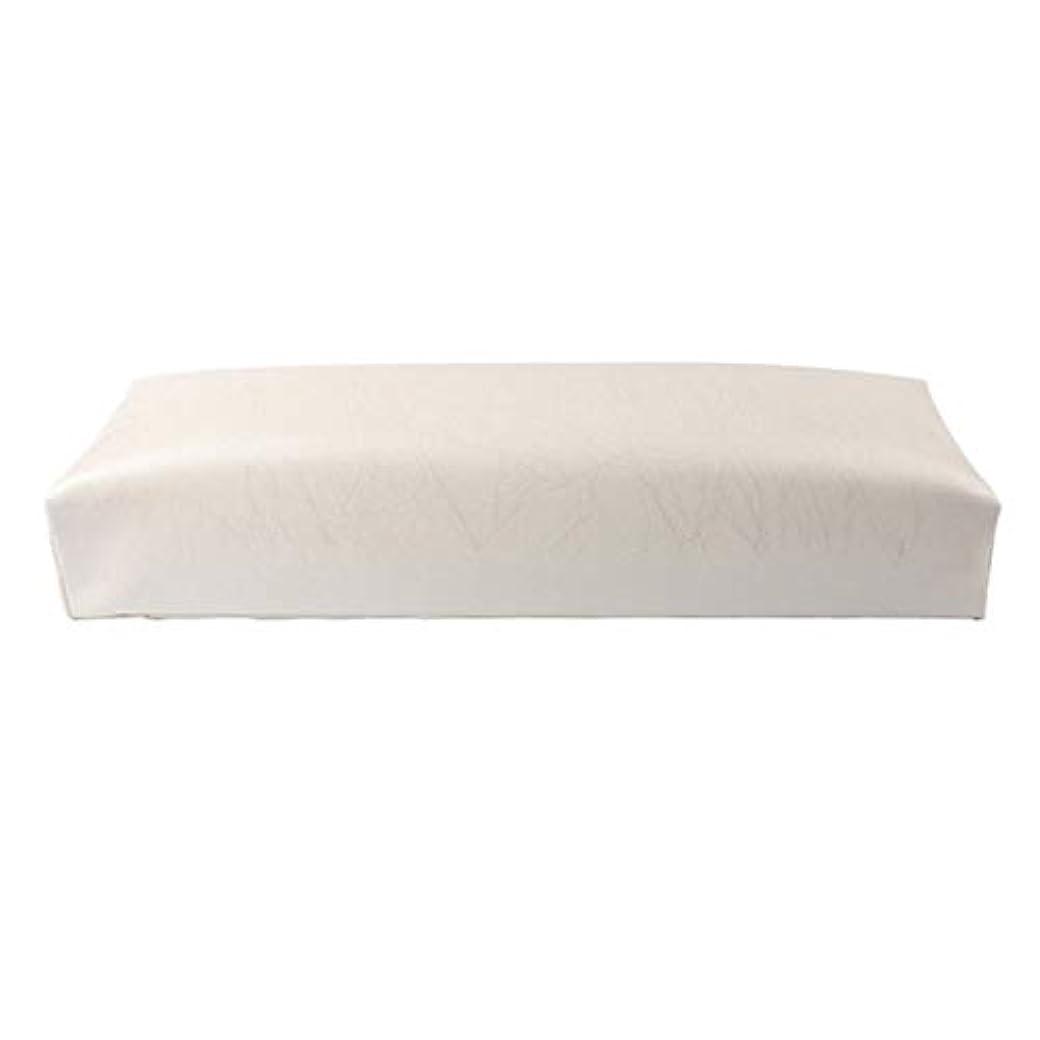 XZANTE ネイル用マニキュアハンド枕長方形PUレザーハンドレストクッションネイルピローサロンハンドホルダーアームレストレストマニキュアネイルアートアクセサリーツールホワイト