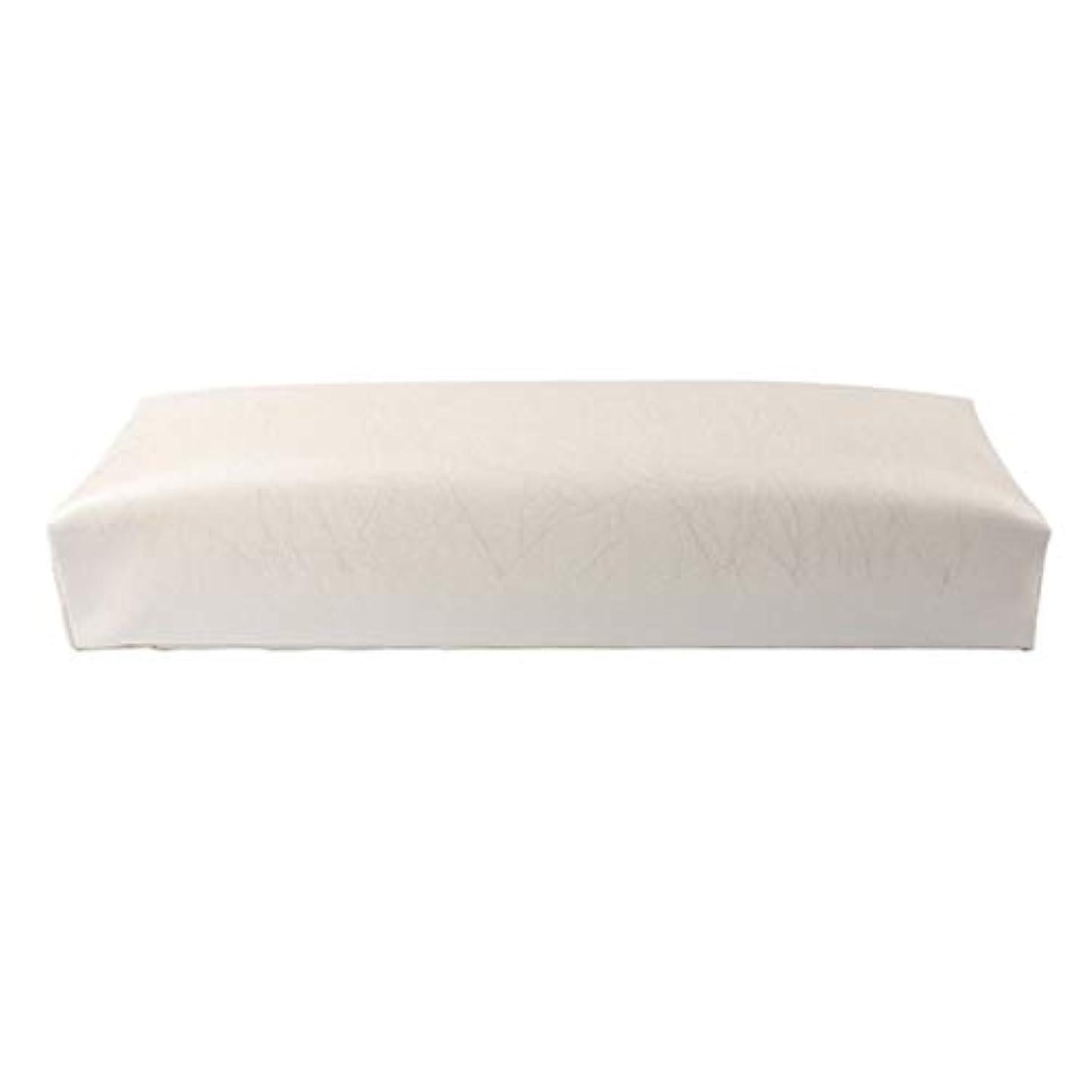 留まる悪行傑作CUHAWUDBA ネイル用マニキュアハンド枕長方形PUレザーハンドレストクッションネイルピローサロンハンドホルダーアームレストレストマニキュアネイルアートアクセサリーツールホワイト