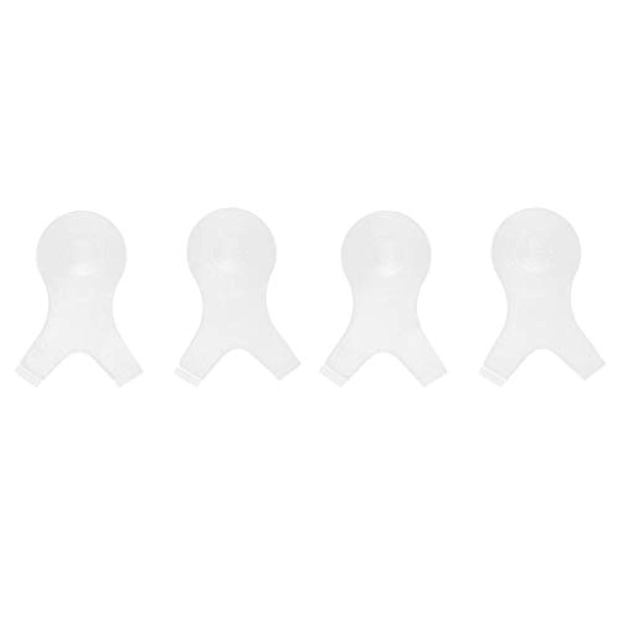 契約する北お勧め4個 Y字型 まつ毛パーシングブラシ まつ毛 エクステンションパーマ用 メイクアップツール